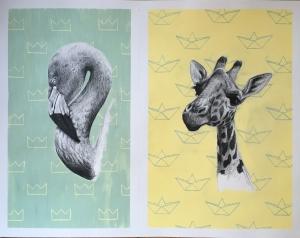 Giraf + Flamingo
