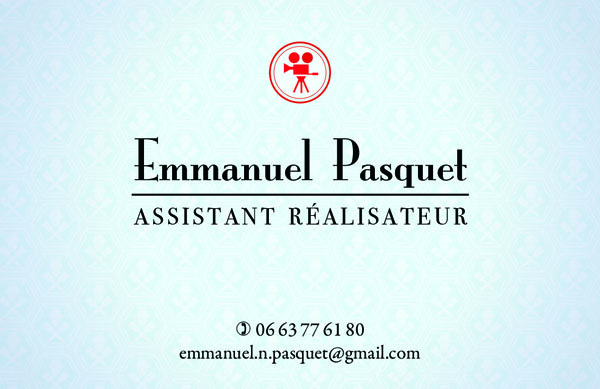 Emmanuel Pasquet carte 2012 verso
