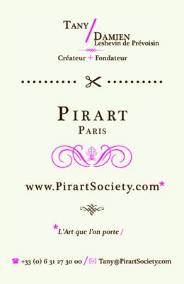 business card overnight print PIRART verso