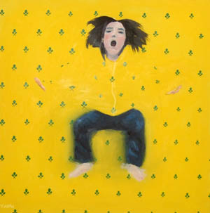 Yellow Frog, by Tany Oil painting, 2009